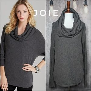 Joie Wesley Cowl neck pullover sweater in Gray